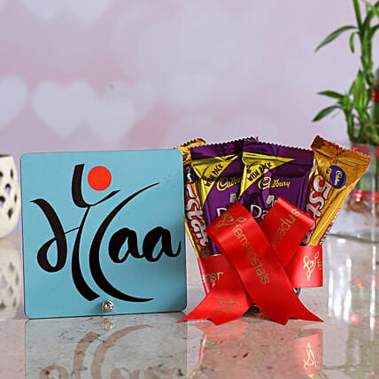 Maa Table Top Assorted Chocolates Hand Delivery:Mothers Day Gifts Combo