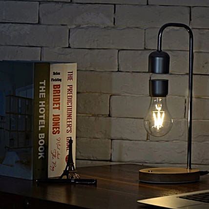 Magnetic Levitating LED Light Bulb Lamp:Funny Gifts