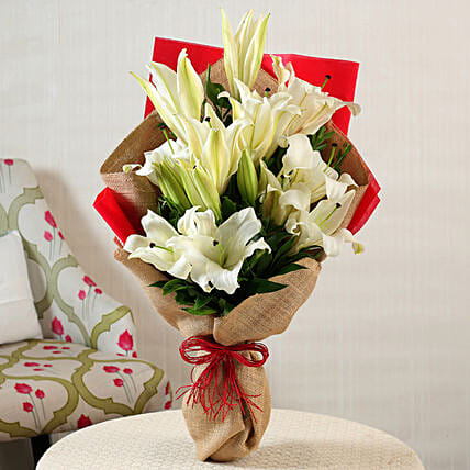 Online White Lilies Bunch