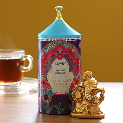 Maharajas Breakfast Black Tea Pack With Ganesha Idol