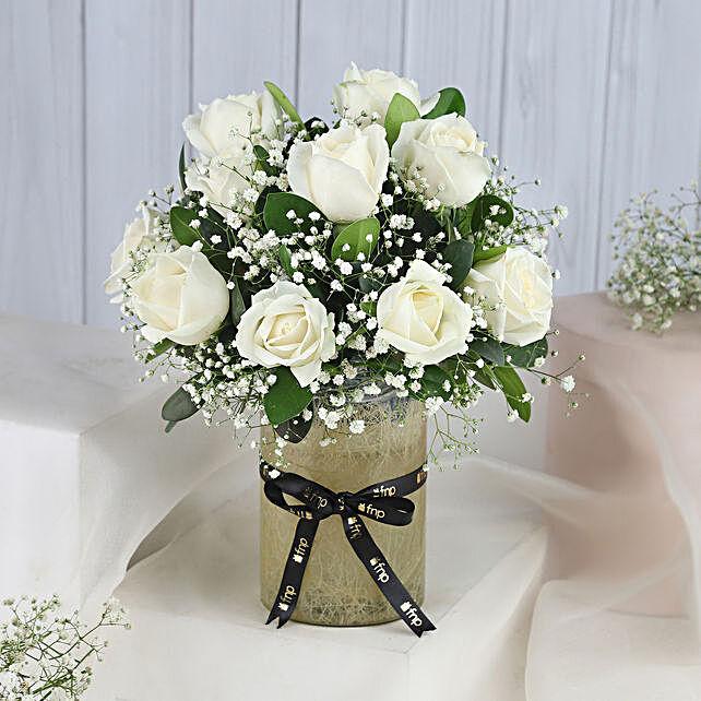 Majestic Roses Jar Arrangement