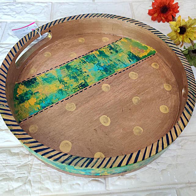Malakite Round Tray