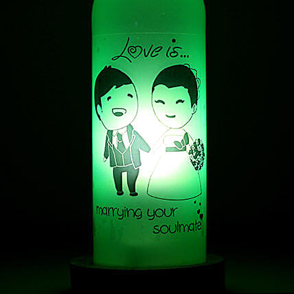 Marrying Your Soulmate Lamp-1 love is marrying you soulmate bottle lamp:Bottle Lamp