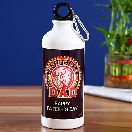 Marvel Happy Fathers Day Printed Bottle Hand Delivery