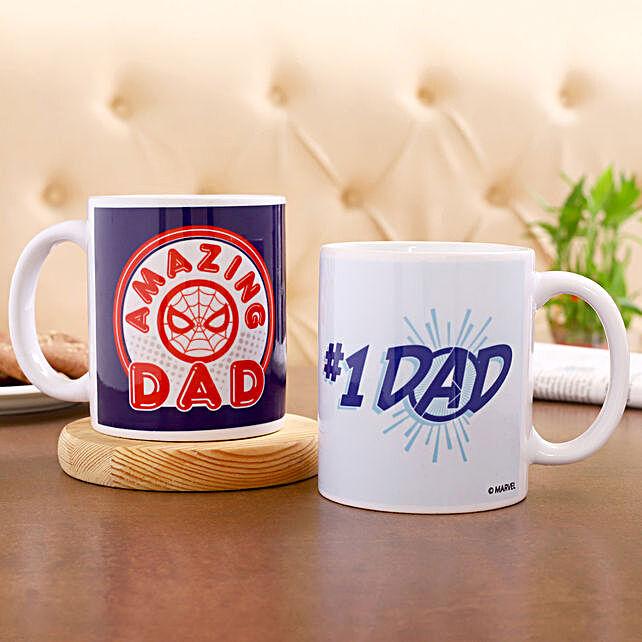 Marvel No 1 Dad Printed Mug Set Of 2 Hand Delivery