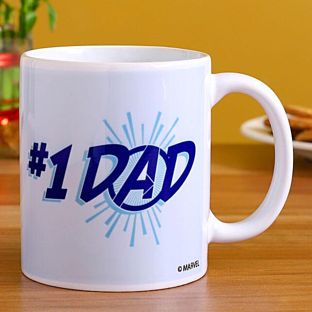 Marvel No 1 Dad Printed Mug:Birthday Gift For Uncle