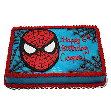 Mask Of Spiderman Cake 3kg Butterscotch Eggless