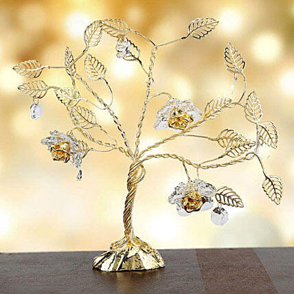 Swarovski tree with triple flowers