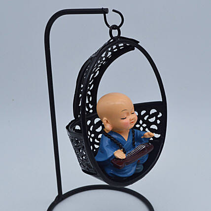 Meditating Monk On A Swing:Send Gifts for Dhanteras