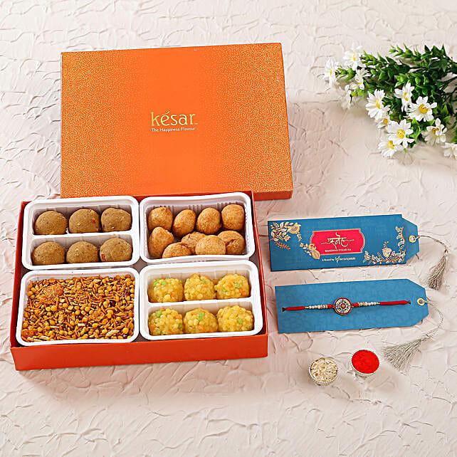 Meenakari Charming Rakhi & Sweet Savoury Treats