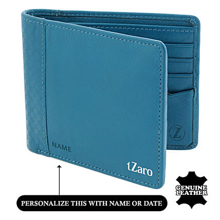 Online Turquoise Wallet For Men's:Personalised Leather Gifts