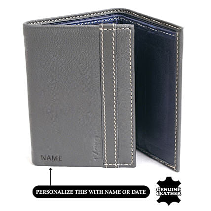 Online Tri- Fold Wallet:Personalised Leather Gifts
