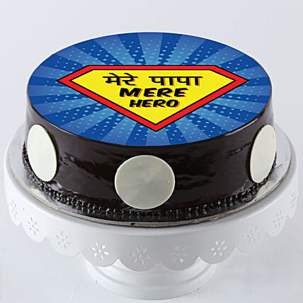 Super Hero Cake For Dad