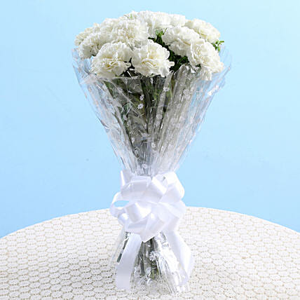 lovley carnation bouquet for wife