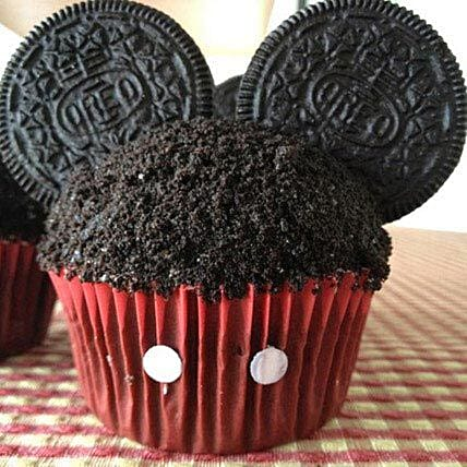 Mickey Theme Cupcake with Oreo6:Send Cupcakes