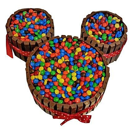 Mickey Mouse Gems Filled Kit Kat Cake for 1st Birthday 2kg