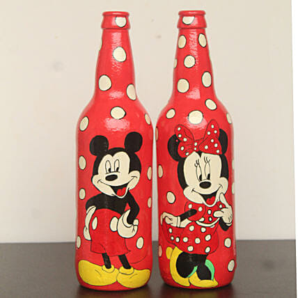 Online Mickey And Minnie Water Bottle