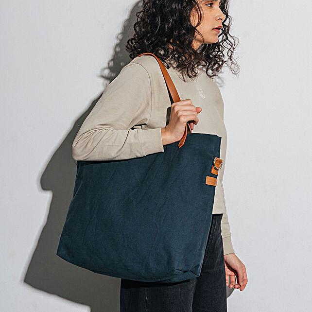 Midnight Blue Buoy Tote Bag