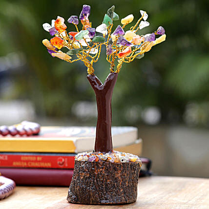 Mini Colourful Crystal Wishing Tree:Christmas Tree