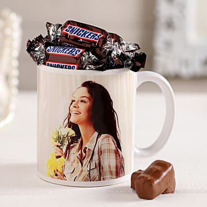 Snicker Chocolate in Coffee Mug