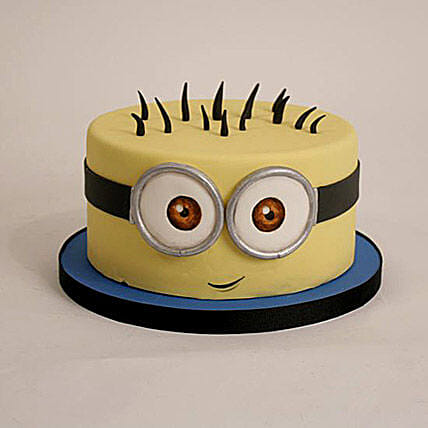 Minion Theme Cartoon Cake 1kg:Minion Theme Cake