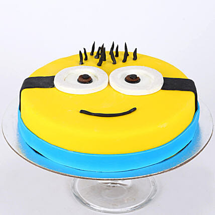 Minion Cute Cartoon Cake for Kids 1kg:Birthday Cakes Ahmedabad