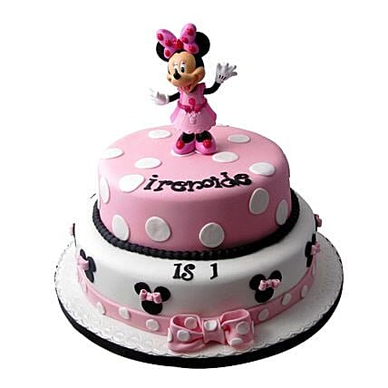 Minnie Mouse Birthday Cake 3kg:2 Tier Cake