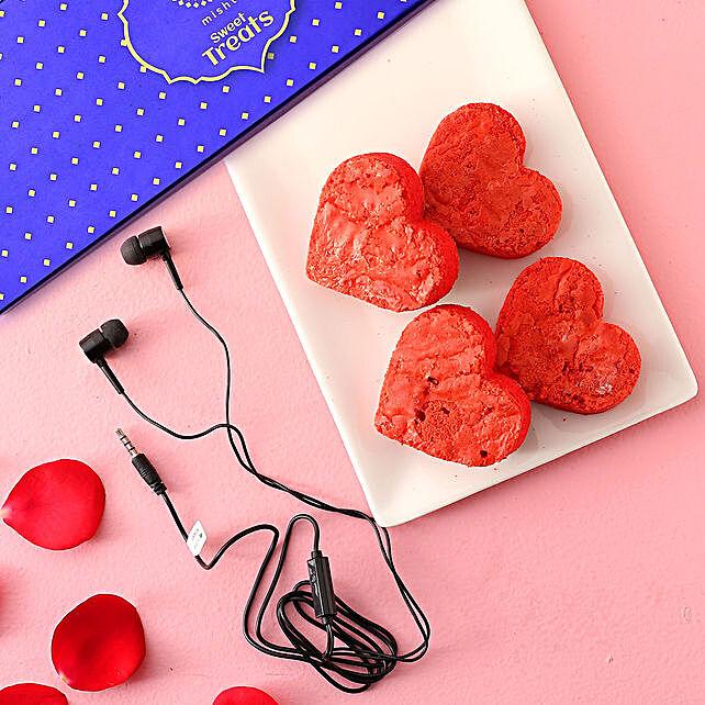 Misht Red Velvet Brownies Earphone Combo