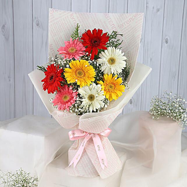 Mixed Brilliance Gerbera Blossoms
