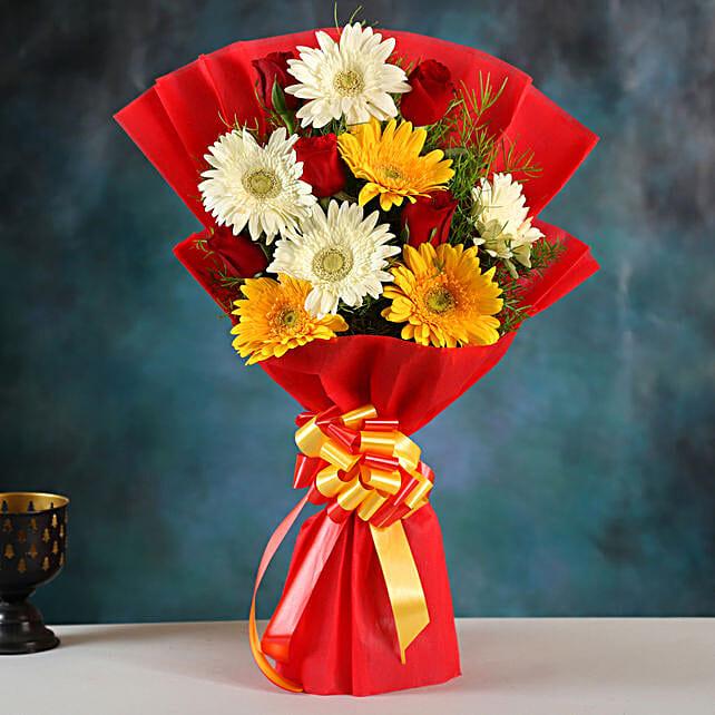 Mixed Elegance Gerbera Bouquet