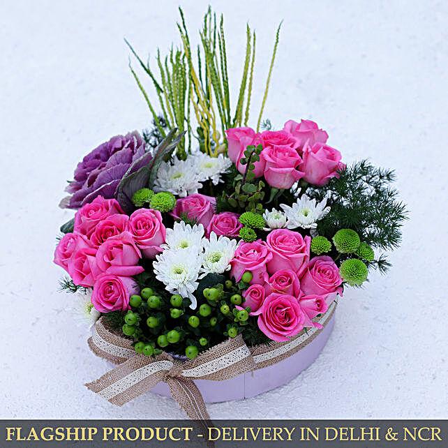 Mixed Flowers Elegant Box