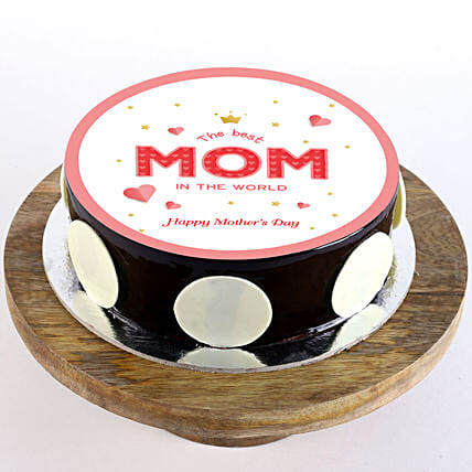 Greeting photo cake for mothers day
