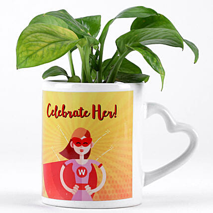 celebrate womens day with plant