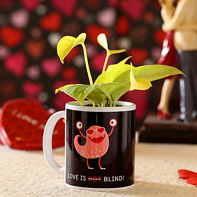 money plant in printed mug