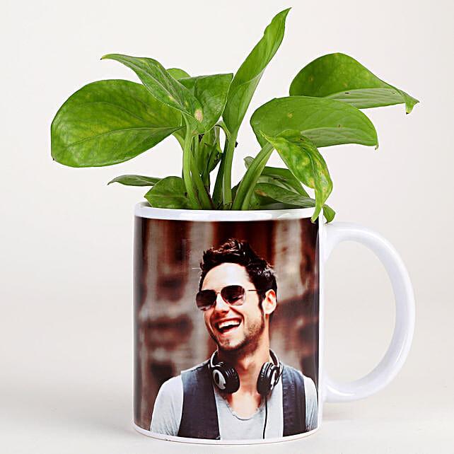 best plant n photo coffee mug:Personalised Pot plants