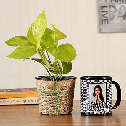 money plant n bday mug for her