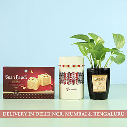 Plant, Sweet and Rakhi Set Online
