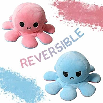 Mood Changing Reversible Octopus Toy:Soft toys to Ghaziabad