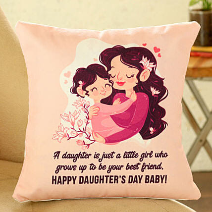 daughters day printed cushion:Gifts for Daughters Day