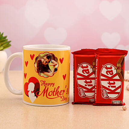 Mother Day Personalised Mug And Kitkat Hand Delivery