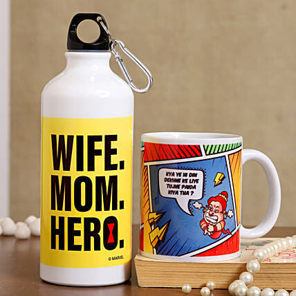 Mother Day Printed Ceramic Mug And Bottle