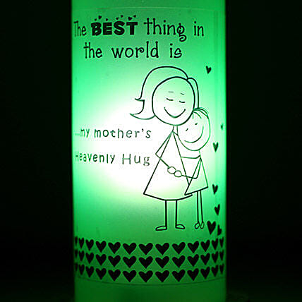 Mothers Hug Bottle Lamp-1 bottle lamp for mom with a tag:Send Led Bottle Lamp