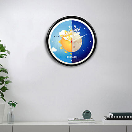 personalised wall clock for decorating