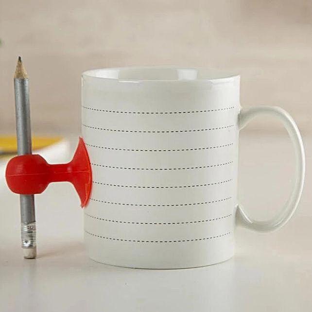 Buy Moustache Mug With Pencil:Unusual Mugs