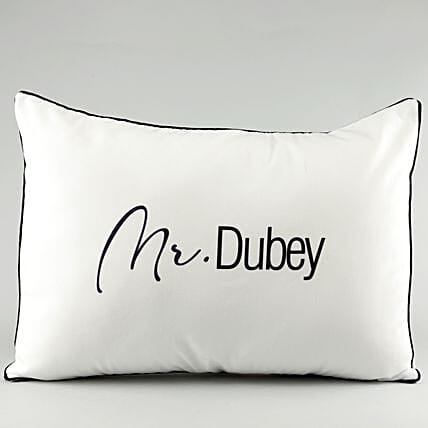 Name Printed Pillow Cover For Husband