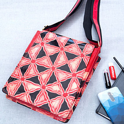 Multicoloured Traditional Block Print Sling Bag