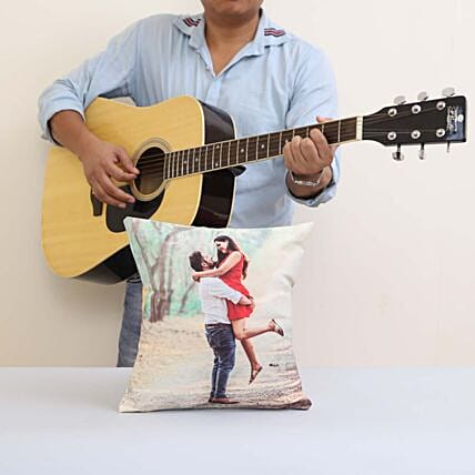 Musical Gift With Personalised Cushion