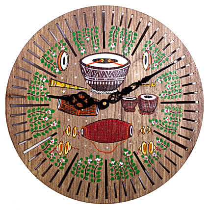 Vintage Hand Painted Wall Clock Online:Mothers Day Handicrafts