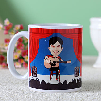 Customised Caricature Mug For Guitarist