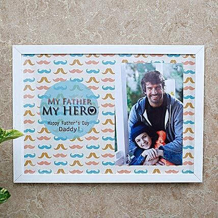 fathers day personalised photo frame